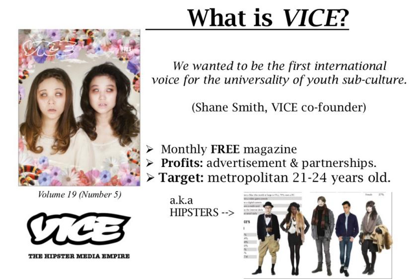 VICE's timeline