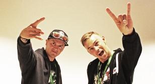 Antti Leppänen and Juha Ruokolanen, of Stunt Freaks Team, at Tubecon 2015