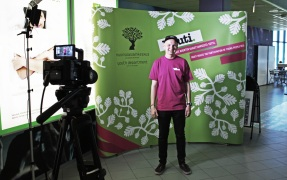 Benjamin, from youth council Ruuti, at Tubecon 2015