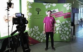 Benjamin, from youth council Ruuti, at Tubecon 2015