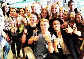 Totte with friends and fans at Tubecon 2015